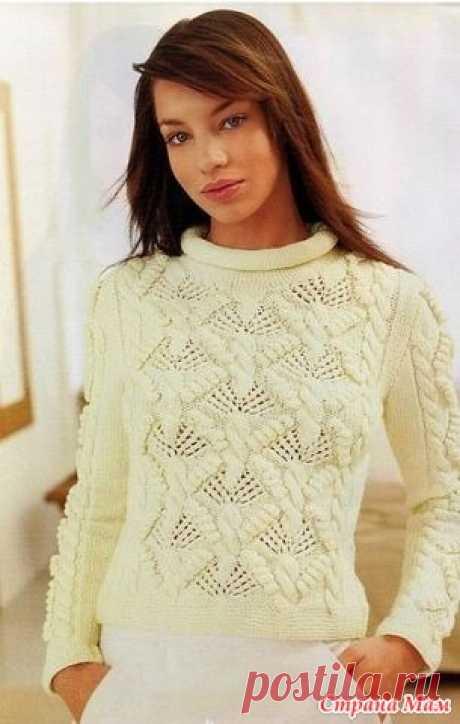 Пуловер с красивым рисунком - Вязание спицами - Страна Мам