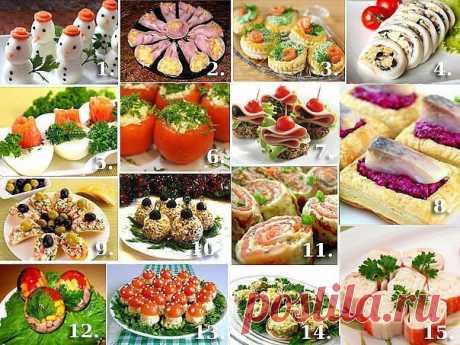 Топ-15 новогодних закусок на праздничный стол