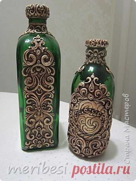 Бутылки как предмет декора | Страна Мастеров