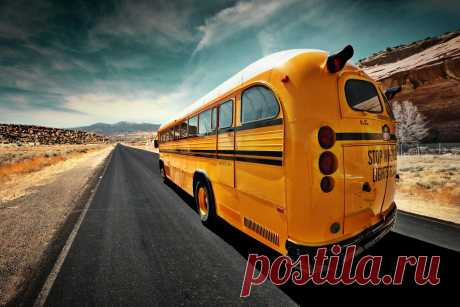 500px / школьный автобус, Свенда Damsgaard