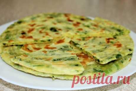Китайские слоёные лепешки с зеленым луком