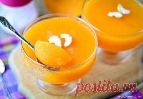 Тыквенное желе с апельсином
