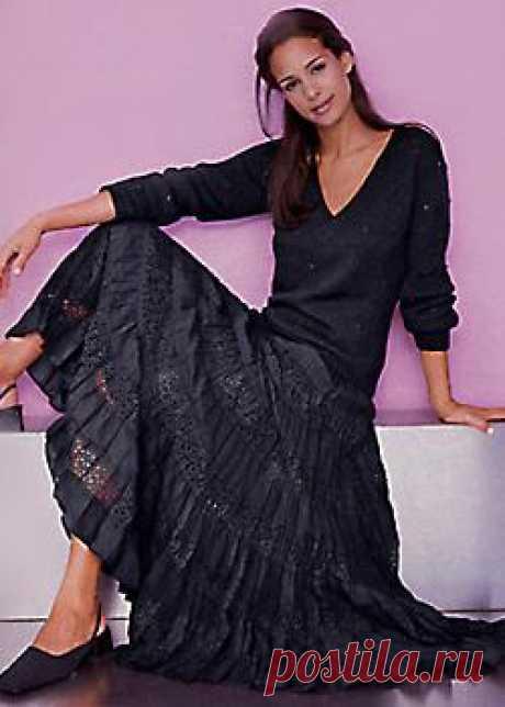 Как сшить многоярусную юбку с кружевами - описание, расчет и выкройка