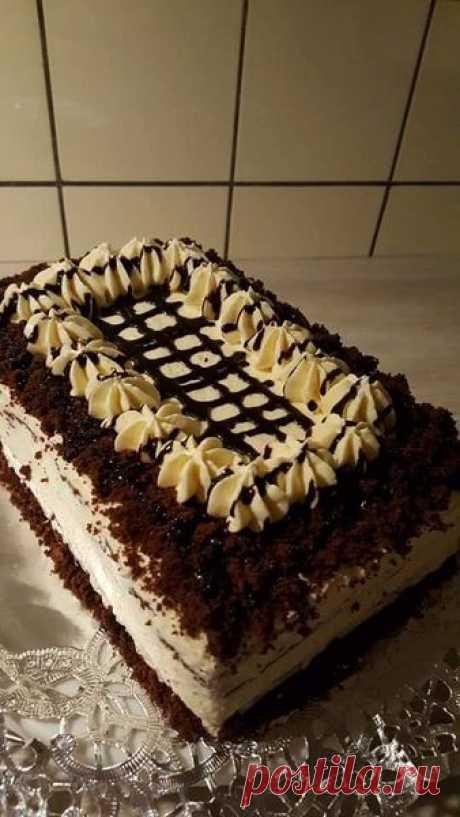 სამარხვო შოკოლადის ნამცხვარი .