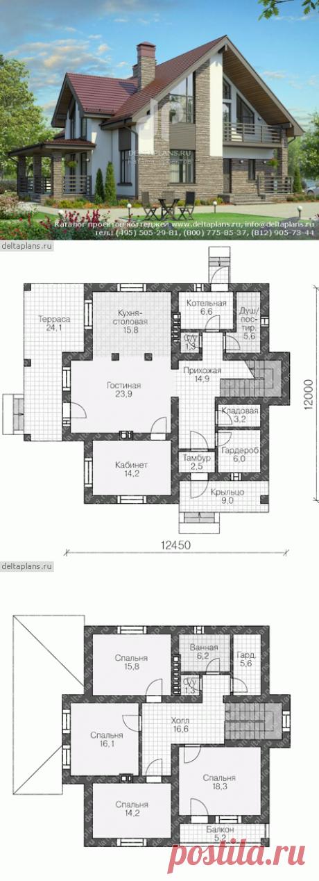 Проект пенобетонного дома № U-187-3P