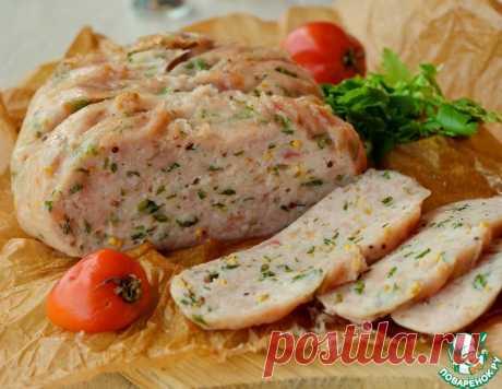 Крафтовая куриная колбаса с петрушкой – кулинарный рецепт