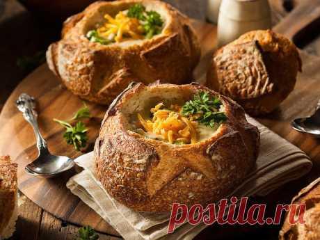 Мастер-класс : История супчика в хлебе