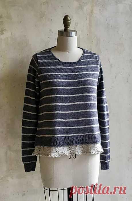 Пуловер с ажурной каймой Evelyn - Вяжи.ру