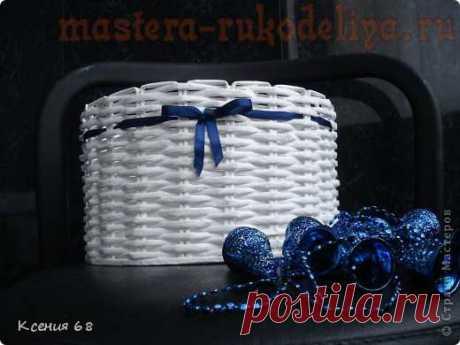 Мастер-класс по плетению из газет: Круглая корзинка