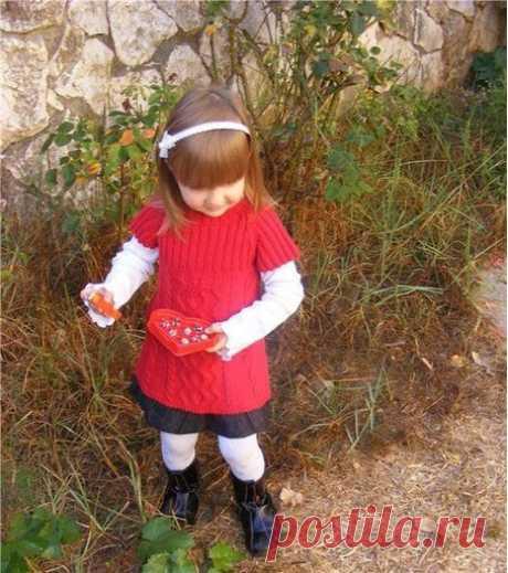 Туника с косами на девочку 4 гда - Вязание на 4 года спицами - Вязание на 4 года - Схемы и модели - Вяжем вместе