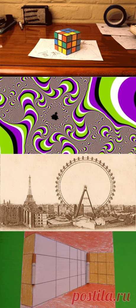 15 иллюзий, которые взорвут ваш мозг.