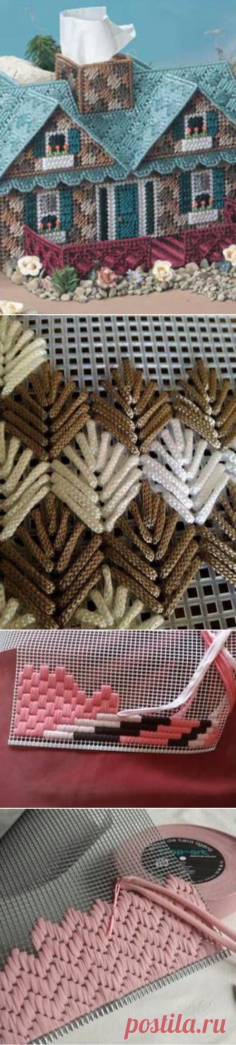 Барджелло - вышивка на сетке. Немного примеров(со схемами)