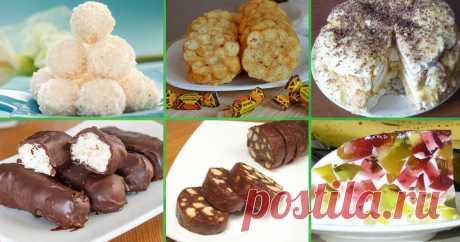 Двенадцать простых и вкусных сладостей без выпечки Читать далее...