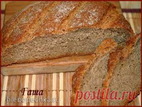 Ржаной хлеб «Без ничего» (духовка, хлебопечка, мультиварка)