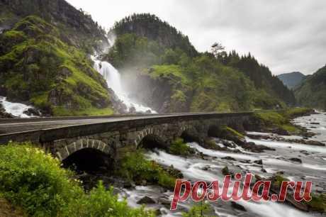 Красивейшие водопады Норвегии — Путешествия