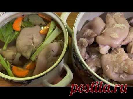 К Новогоднему столу: Маринованные свиные ножки(два варианта приготовления)