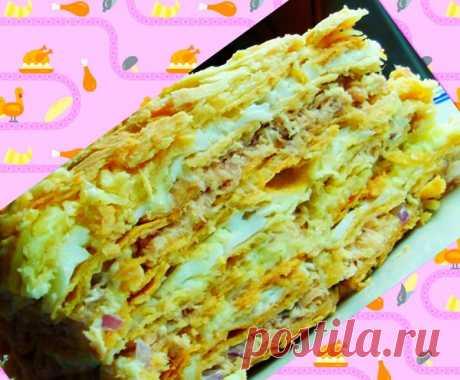 Закусочный торт Наполеон | уДачные советы | Яндекс Дзен