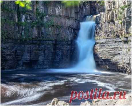 High Force Waterfall Where the River Tees cuts through the Whin Sill...