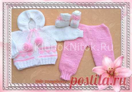Костюмчик с сердечками | Вязание для девочек | Вязание спицами и крючком. Схемы вязания.