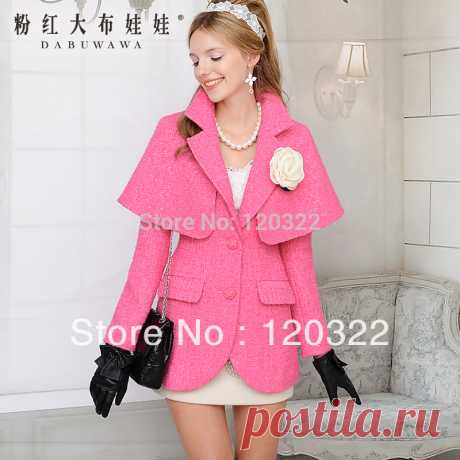 coat rack Picture - More Detailed Picture about DABUWAWA Original New fashion 2016 Autumn and Winter Slim Casual Thick Wool Coat outerwear Blazer Women Trench Cloak Outerwear Picture in Wool & Blends from PINK DOLL Trade Co.,Ltd | Aliexpress.com | Alibaba Group