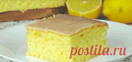 Нежный лимонный пирог .