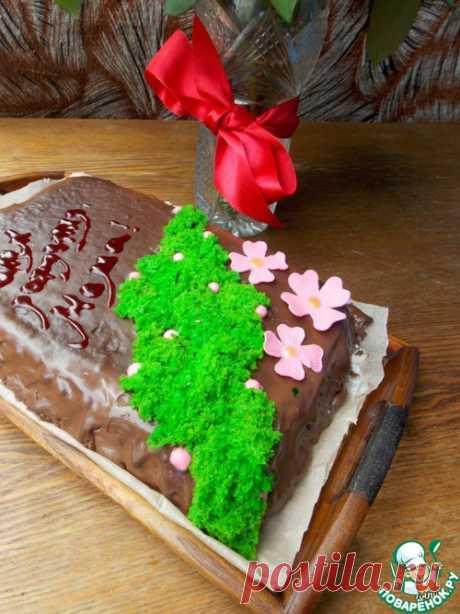 Бисквитный мох для декора - кулинарный рецепт