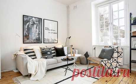 Минимализм и роскошь скандинавского стиля: 35 потрясающих идей для гостиных | Мой дом