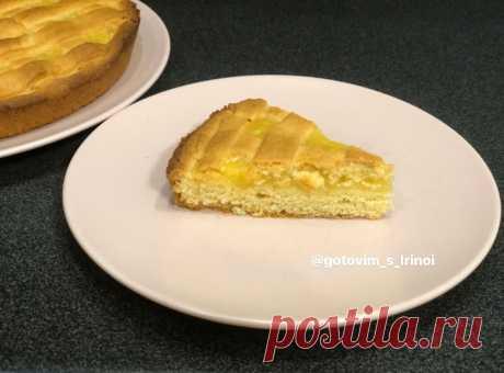 Лимонный пирог. Тающее песочное тесто с приятной лимонной начинкой.   Готовим просто и вкусно с Ириной   Яндекс Дзен