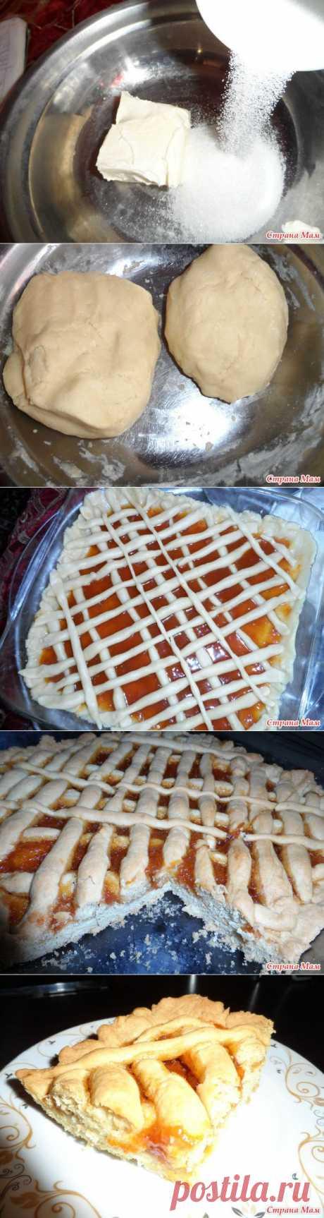 Песочный пирог с джемом. - Азербайджанская Кухня - Страна Мам