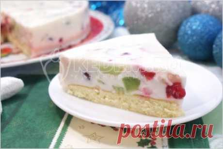 Торт «Самоцветы в снегу».