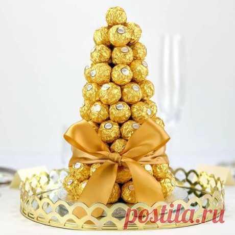 Съедобная елка своими руками - сладости и украшение на Новый год ~ ALL-DEKOR
