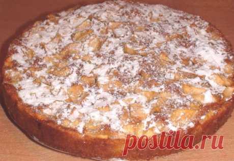Заливной яблочный пирог - очень простой рецепт