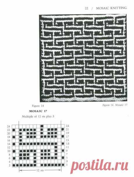 "The book on knitting \""Mosaic Knitting - 1997\"" \/ mosaic knitting \/"