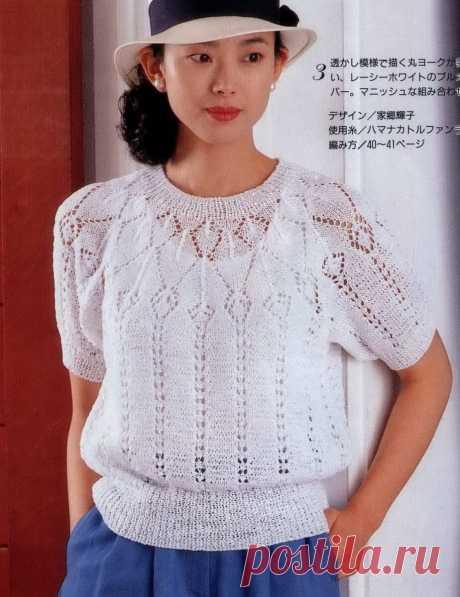 Романтичный образ? Это просто! Запланируйте в своём гардеробе джемпер с круглой кокеткой. | Asha. Вязание и дизайн.🌶 | Яндекс Дзен