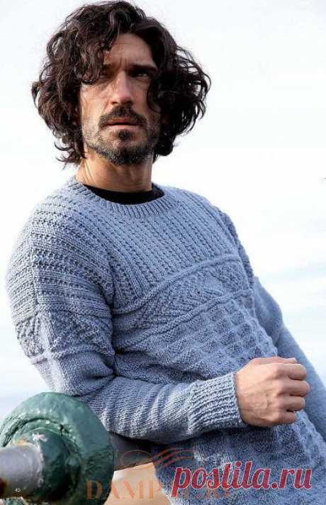 Мужской пуловер «Элементы Ганси» | DAMские PALьчики. ru
