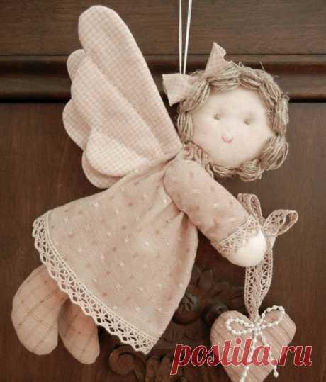 Рождественский ангелочек своими руками. Забавные ангелы своими руками
