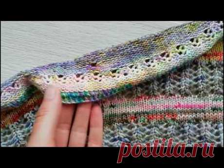 How to connect a shawl fringing by spokes. Detailed MK