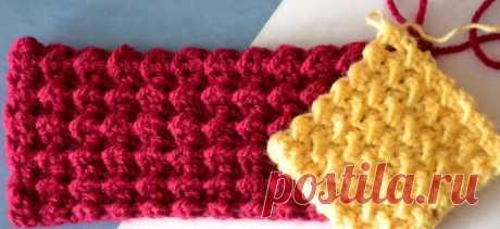 Плотный узор для вязания коврика