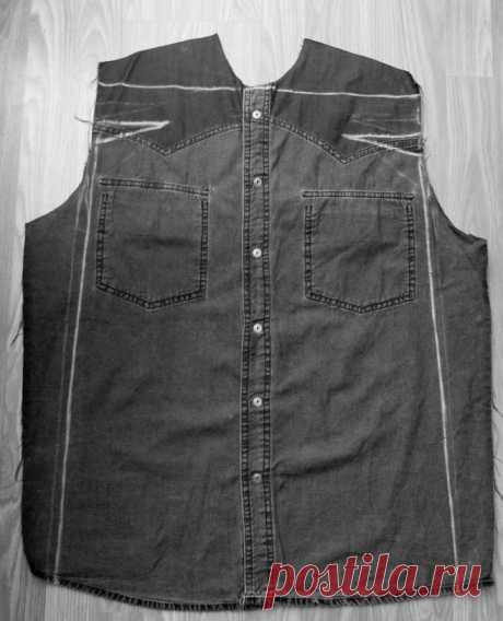 Как сшить стильное платье из джинсовой рубашки…. Если завалялась лишняя просторная рубашка!