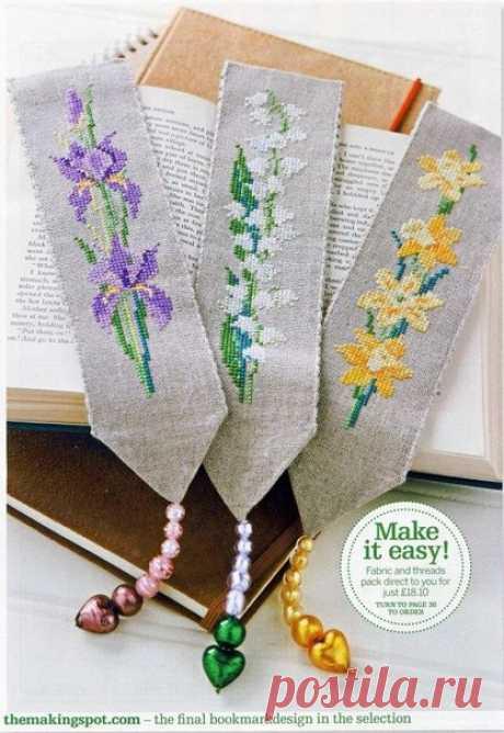 Цветочные закладки / Дизайн для всех!