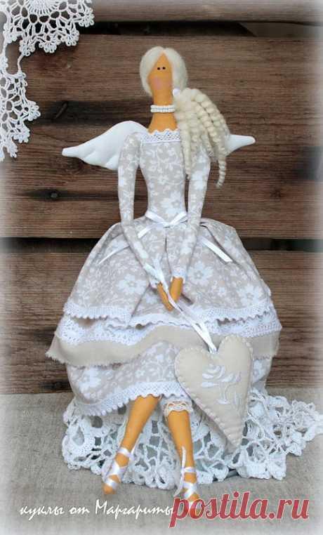 Винтажный ангел Лили-Роуз2.рост42см