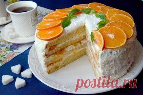Мандариновый торт рецепт с фото пошагово - 1000.menu