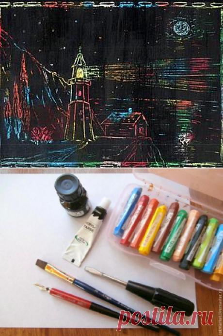 Создаем вместе с детьми картины в необычной технике «граттаж» - Ярмарка Мастеров - ручная работа, handmade