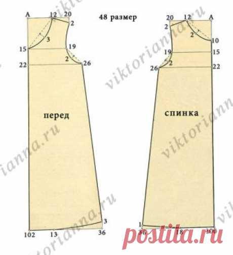 «Домашнее ретро»: ночная сорочка с кружевом (выкройка – схема) - «Ретро стиль, мода и шитье»