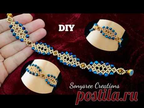 Christmassy Bracelet    DIY Beaded Bracelet    Pulsera