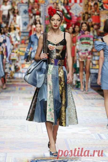 Пэчворк от кутюр- обалденное рукоделие в новой коллекции Dolce&Gabbana | СТИЛЬ МОДА ТРЕНДЫ | Яндекс Дзен