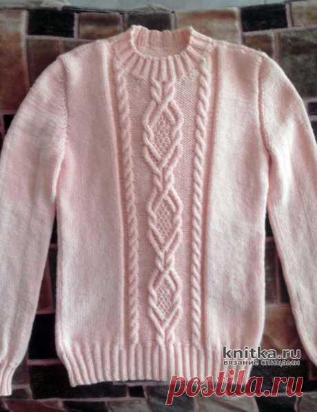 Женский свитер спицами. Работа Жанны, Вязание для женщин