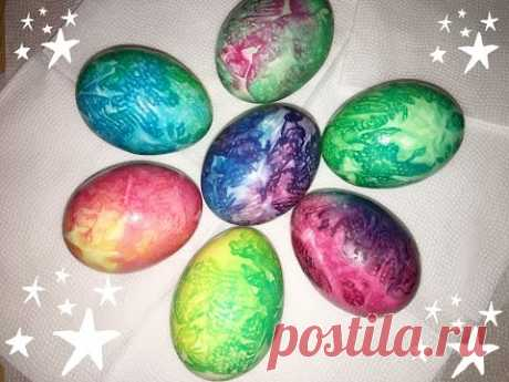 Красим яйца на пасху! Красивый и легкий способ!