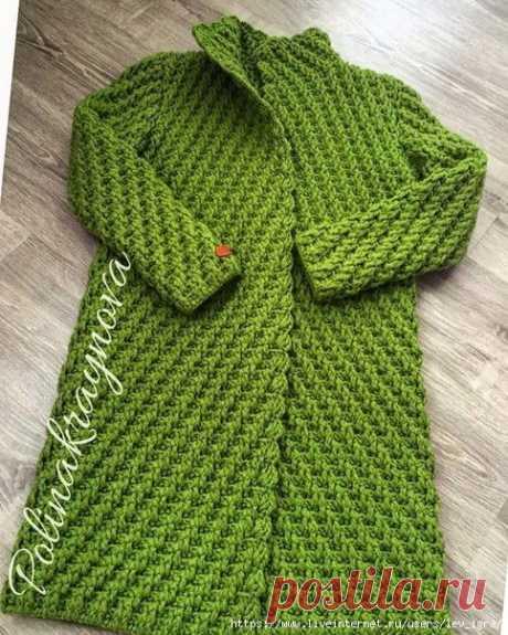 пальто вязаное крючком - автор Полина Крайнова