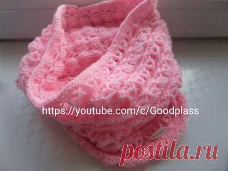 Tejemos la bufanda hermosa tierna snud, (el tubo, la collera) los rayos al niño. Knitting (Hobby)